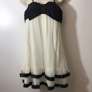 Wet Seal L Tiered Dress with Front Bow Straps XC